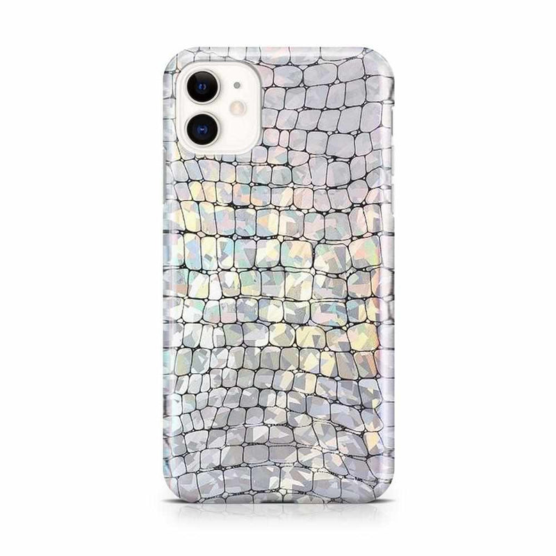 Stylish Holo Chrome Croc Case iPhone Case Get.Casely iPhone 11