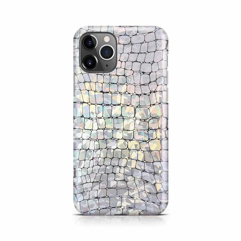 Stylish Holo Chrome Croc Case iPhone Case Get.Casely iPhone 11 Pro