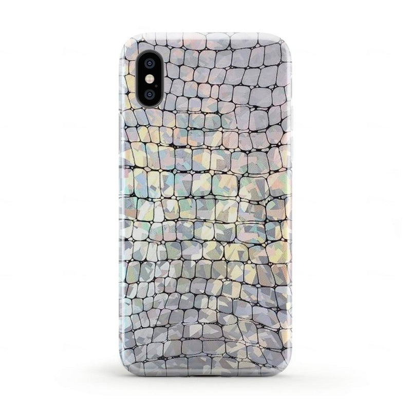 Stylish Holo Chrome Croc Case iPhone Case Get.Casely iPhone X / XS