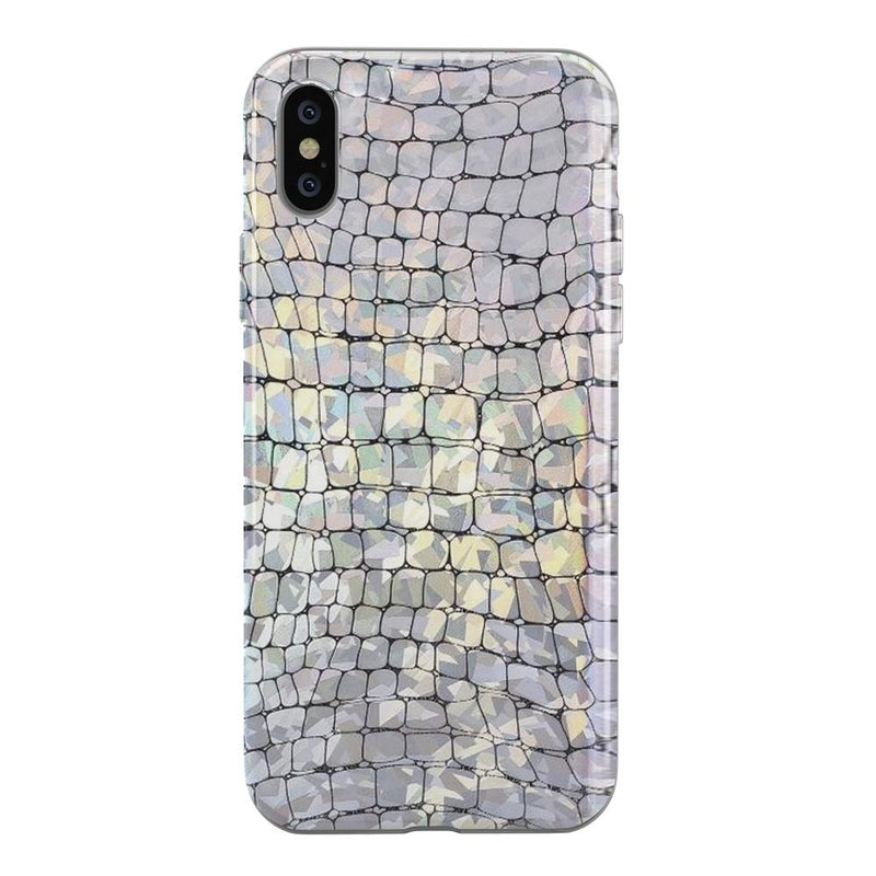 Stylish Holo Chrome Croc Case iPhone Case Get.Casely iPhone XS Max