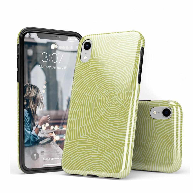 Swirl Away | Tea Green Geometric Case iPhone Case get.casely