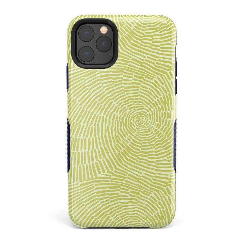 Swirl Away | Tea Green Geometric Case iPhone Case get.casely Bold iPhone 11 Pro Max