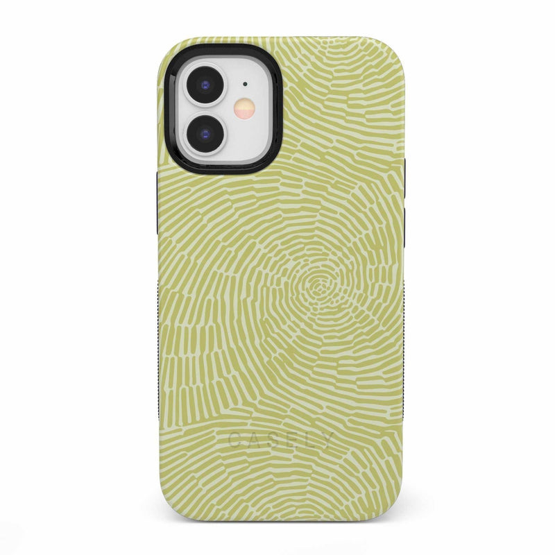 Swirl Away | Tea Green Geometric Case iPhone Case get.casely Bold iPhone 12 Mini
