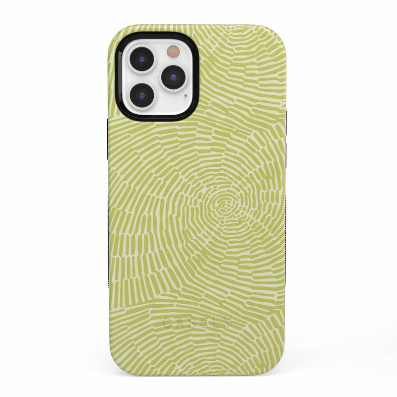 Swirl Away | Tea Green Geometric Case iPhone Case get.casely Bold iPhone 12 Pro