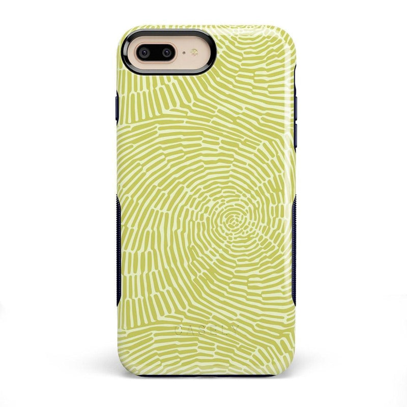 Swirl Away | Tea Green Geometric Case iPhone Case get.casely Bold iPhone 8 Plus