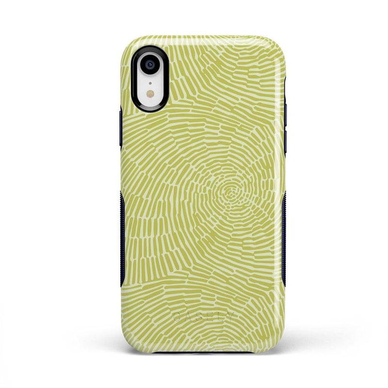Swirl Away | Tea Green Geometric Case iPhone Case get.casely Bold iPhone XR