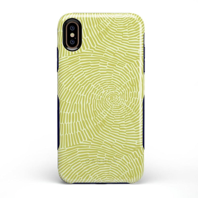 Swirl Away | Tea Green Geometric Case iPhone Case get.casely Bold iPhone XS Max