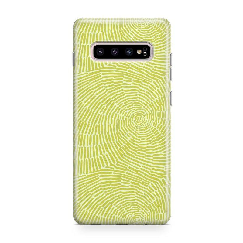 Swirl Away | Tea Green Geometric Case iPhone Case get.casely Classic Galaxy S10 Plus