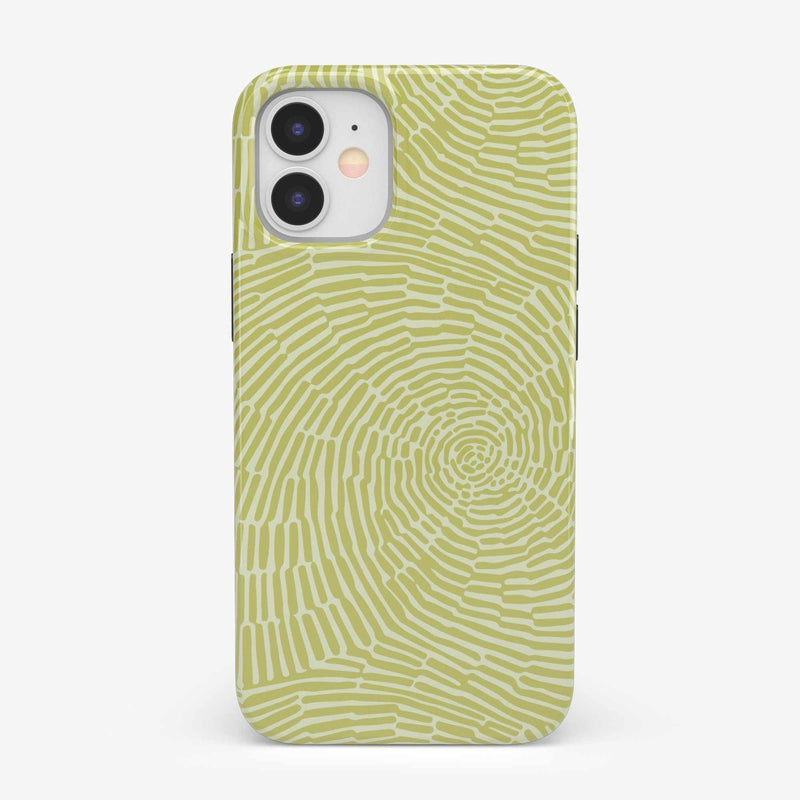 Swirl Away | Tea Green Geometric Case iPhone Case get.casely Classic iPhone 12 Mini