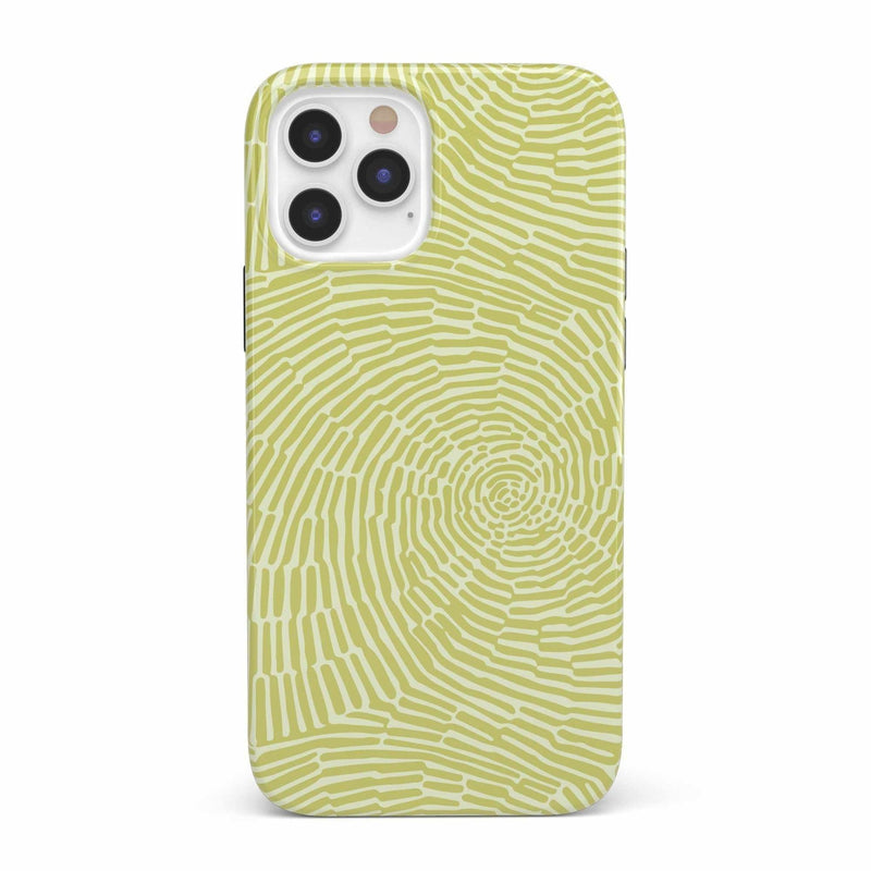 Swirl Away | Tea Green Geometric Case iPhone Case get.casely Classic iPhone 12 Pro
