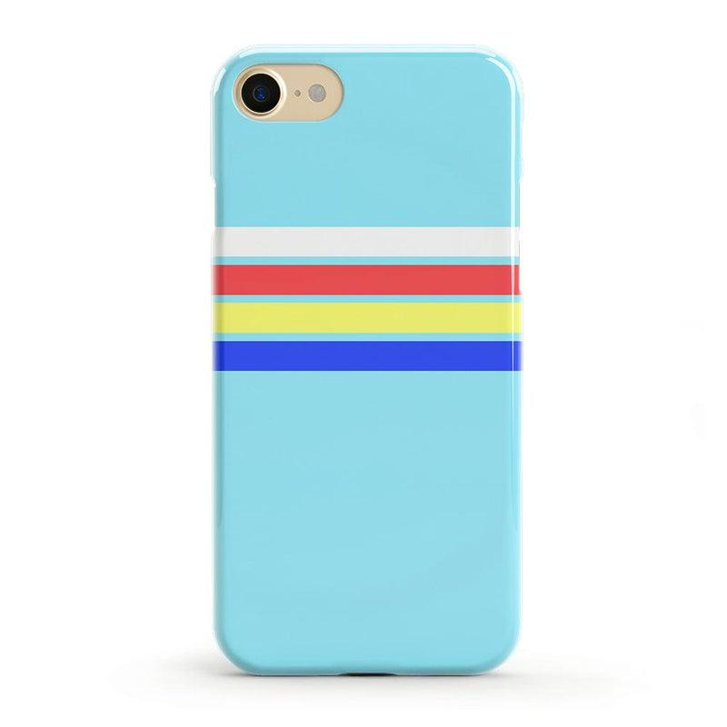Teal Rainbow Stripes Color Block Case iPhone Case get.casely Classic iPhone 8