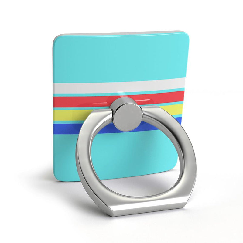 Teal Rainbow Stripes Color Block Phone Ring Phone Ring get.casely