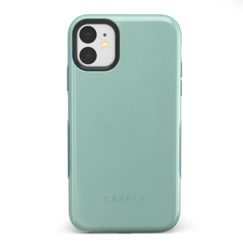 The Bold Collection - Aqua Mint on Aqua Mint iPhone Case get.casely Bold iPhone 11