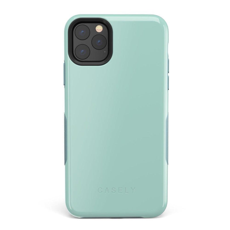 The Bold Collection - Aqua Mint on Aqua Mint iPhone Case get.casely Bold iPhone 11 Pro