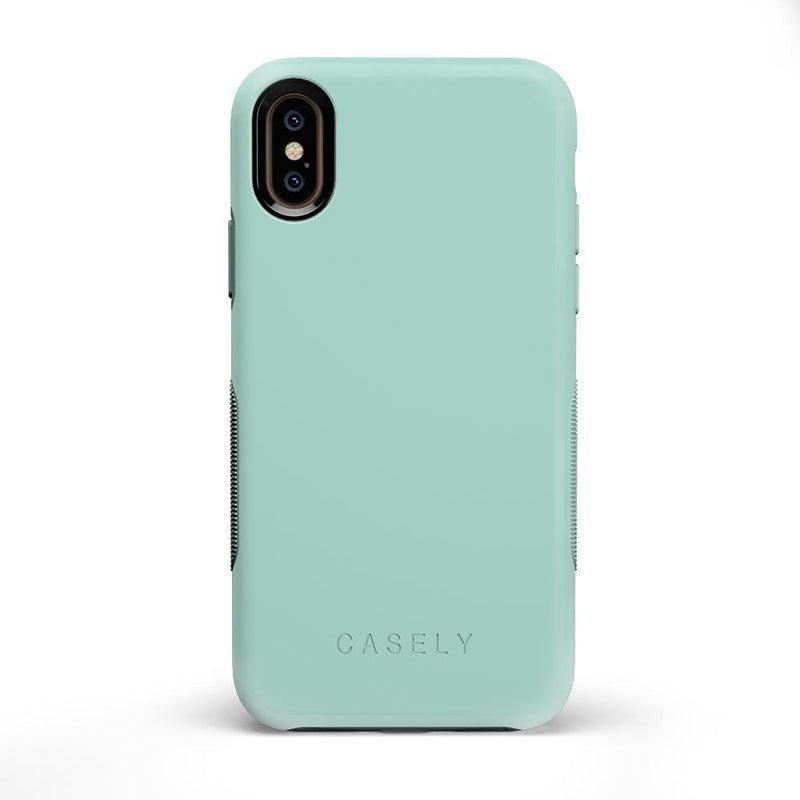 The Bold Collection - Aqua Mint on Aqua Mint iPhone Case get.casely Bold iPhone X / XS