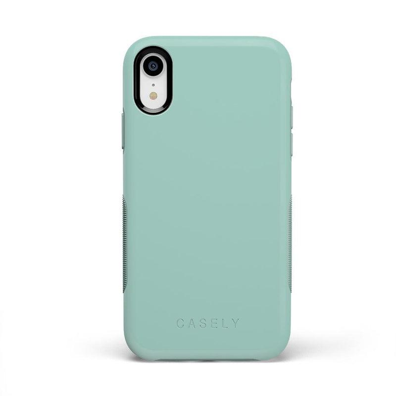 The Bold Collection - Aqua Mint on Aqua Mint iPhone Case get.casely Bold iPhone XR