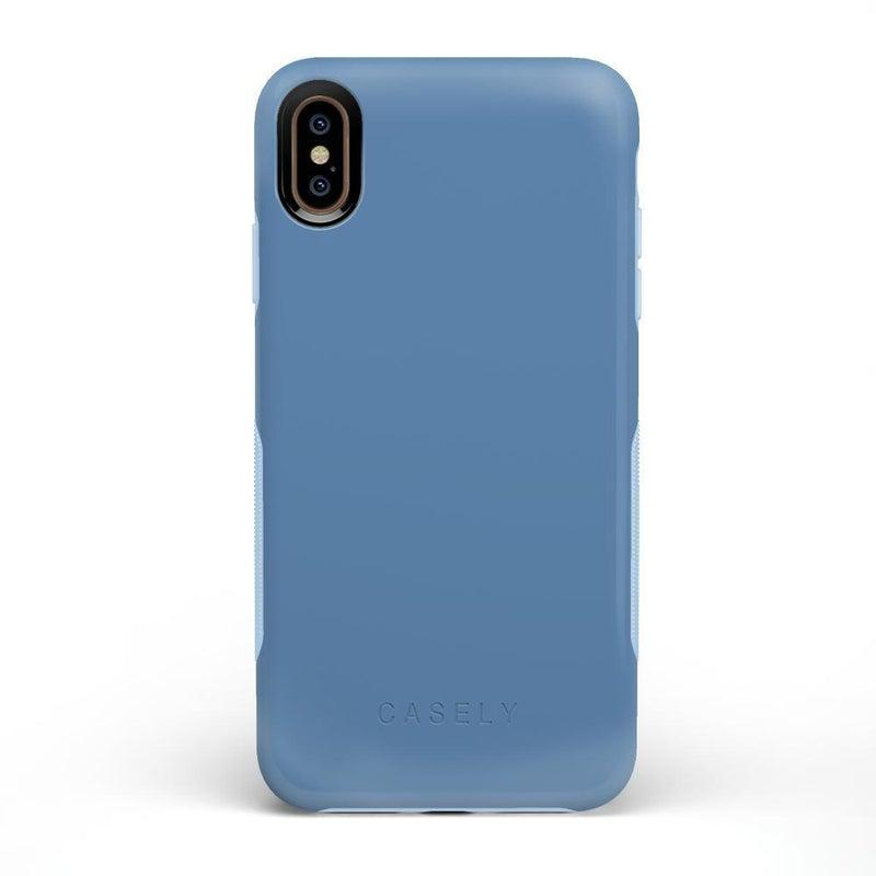 The Bold Collection - Ash Blue on Light Blue iPhone Case get.casely Bold iPhone XS Max