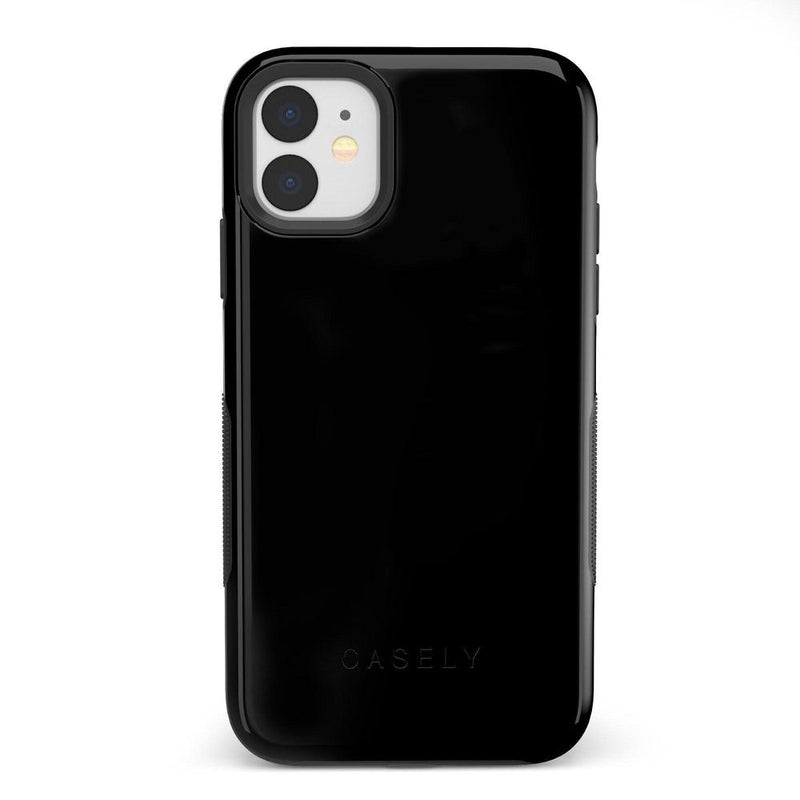 The Bold Collection - Black on Black iPhone Case get.casely Bold iPhone 11