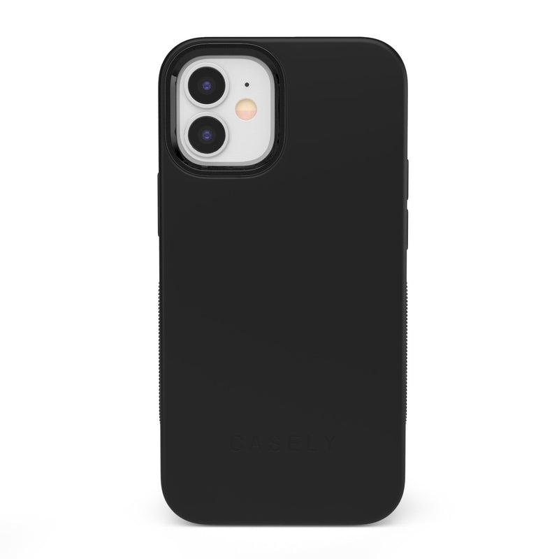 The Bold Collection - Black on Black iPhone Case get.casely Bold iPhone 12 Mini