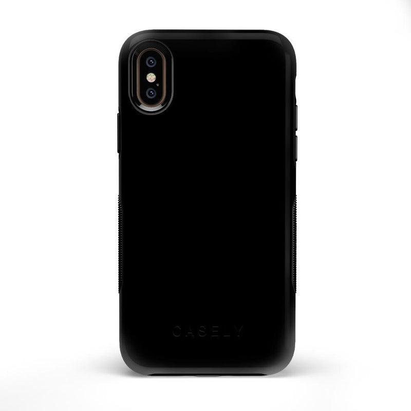 The Bold Collection - Black on Black iPhone Case get.casely Bold iPhone X / XS