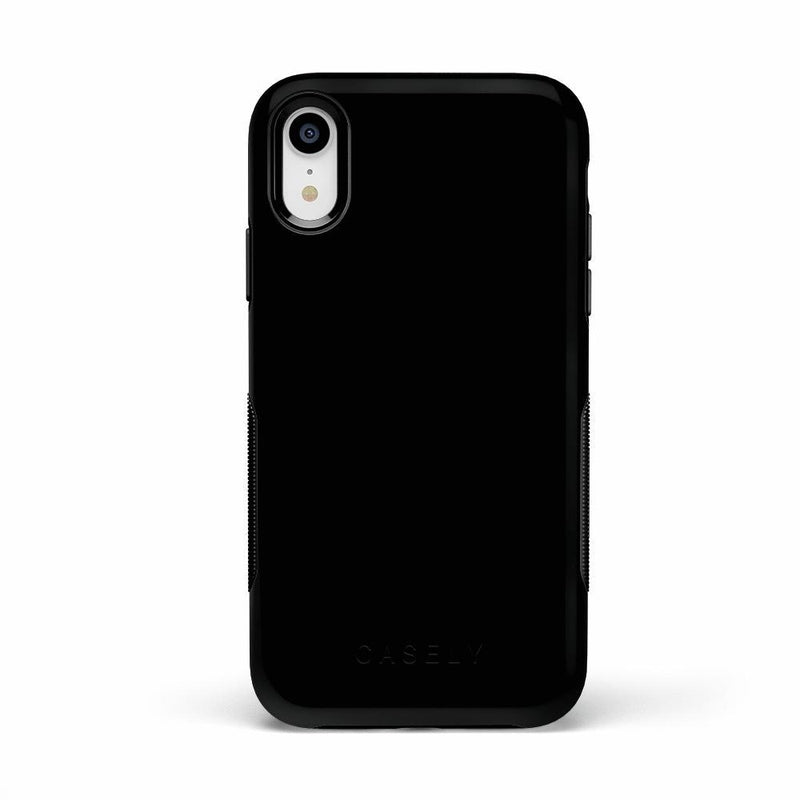 The Bold Collection - Black on Black iPhone Case get.casely Bold iPhone XR