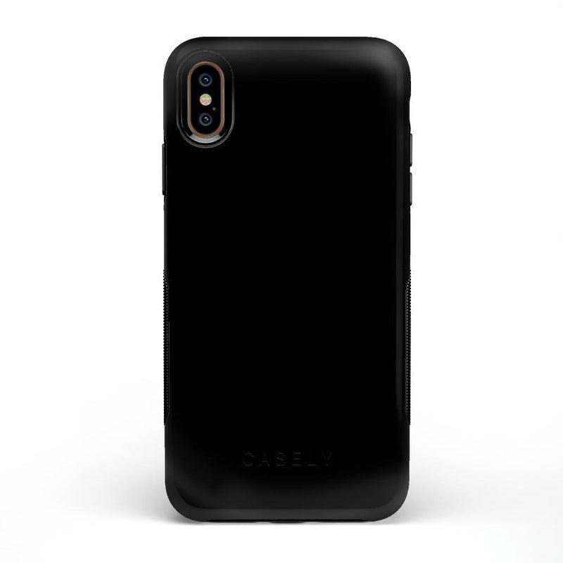 The Bold Collection - Black on Black iPhone Case get.casely Bold iPhone XS Max