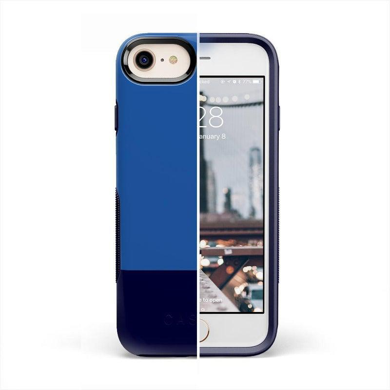 The Bold Collection - Blue & Navy Color Block on Navy iPhone Case get.casely