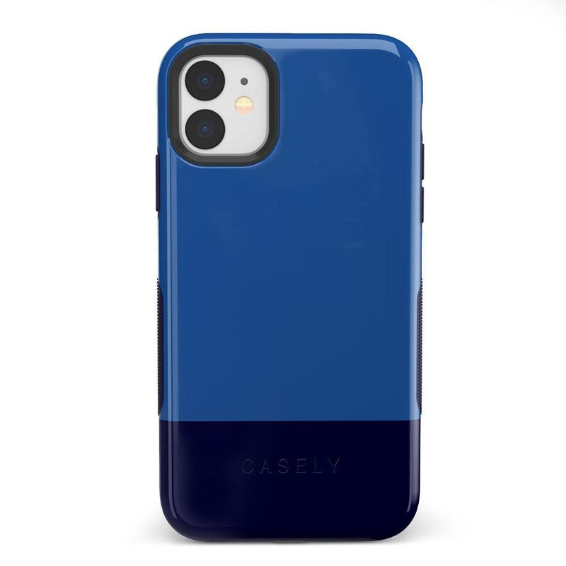 The Bold Collection - Blue & Navy Color Block on Navy iPhone Case get.casely Bold iPhone 11
