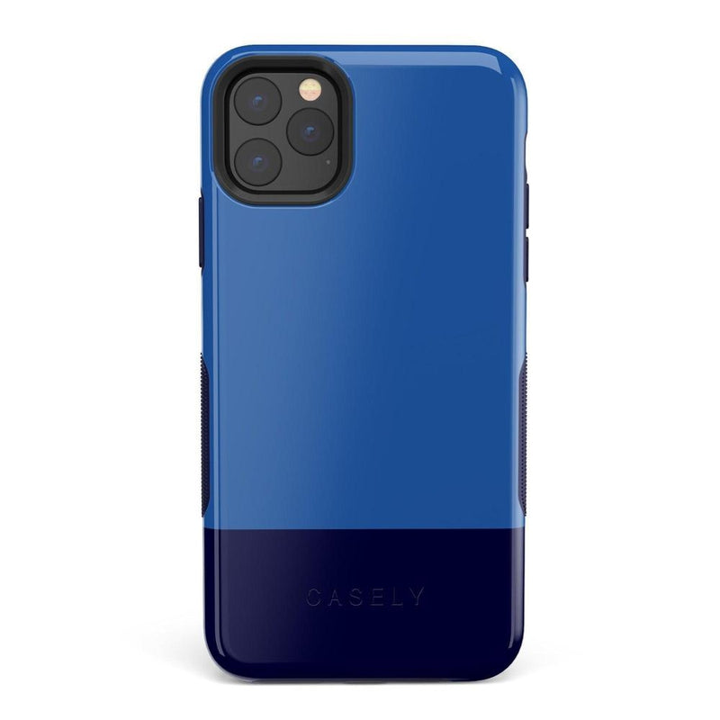 The Bold Collection - Blue & Navy Color Block on Navy iPhone Case get.casely Bold iPhone 11 Pro