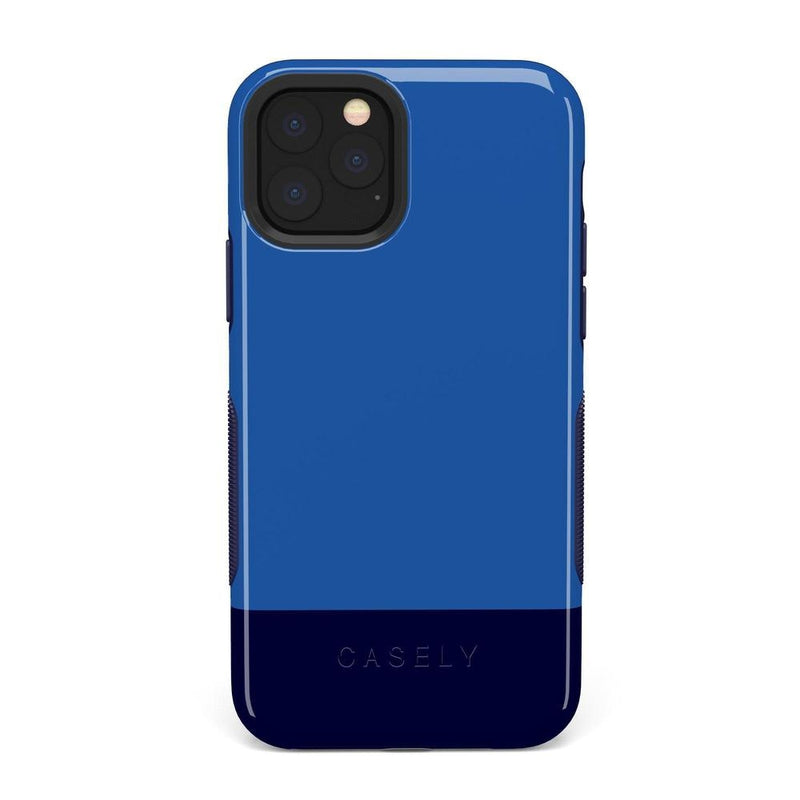 The Bold Collection - Blue & Navy Color Block on Navy iPhone Case get.casely Bold iPhone 11 Pro Max