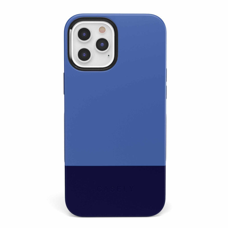 The Bold Collection - Blue & Navy Color Block on Navy iPhone Case get.casely Bold iPhone 6/6s
