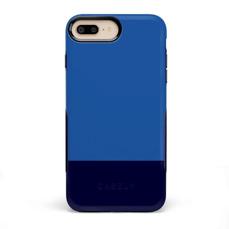 The Bold Collection - Blue & Navy Color Block on Navy iPhone Case get.casely Bold iPhone 6/6s Plus