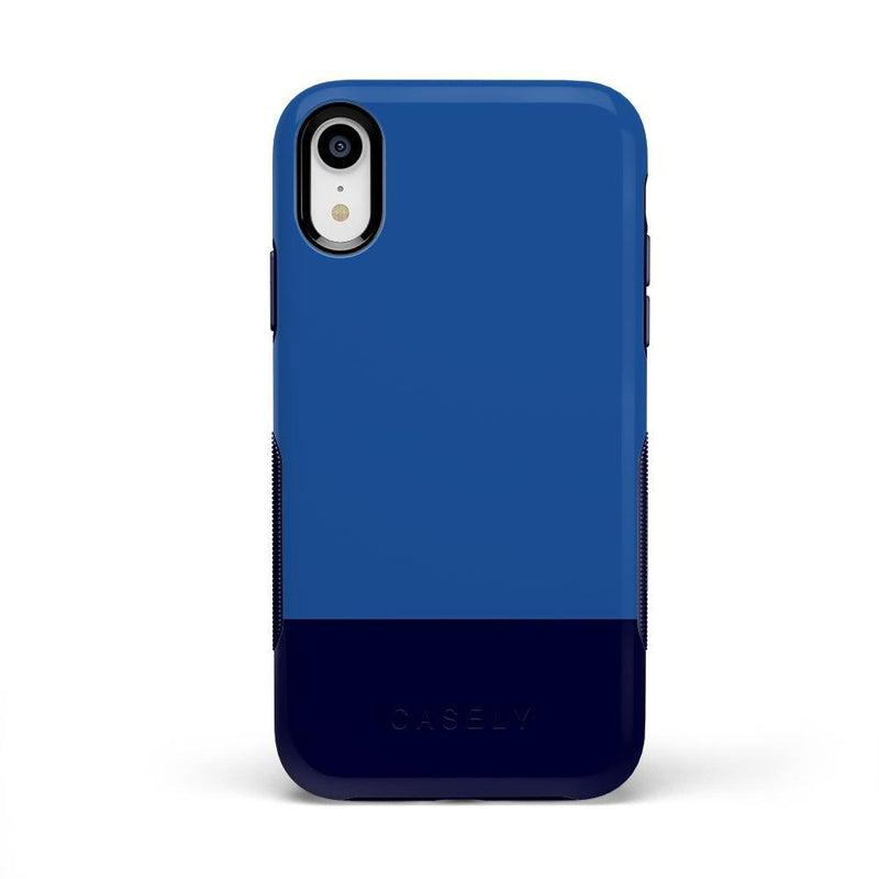 The Bold Collection - Blue & Navy Color Block on Navy iPhone Case get.casely Bold iPhone XR