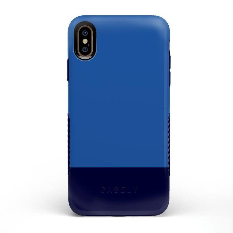 The Bold Collection - Blue & Navy Color Block on Navy iPhone Case get.casely Bold iPhone XS Max