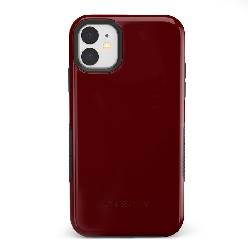 The Bold Collection - Burgundy Red on Black iPhone Case get.casely Bold iPhone 11