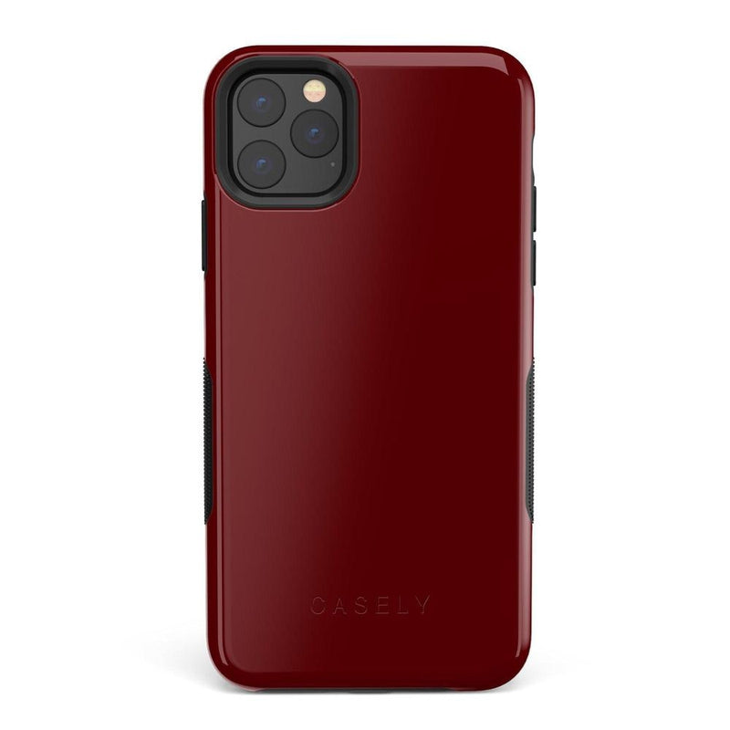 The Bold Collection - Burgundy Red on Black iPhone Case get.casely Bold iPhone 11 Pro