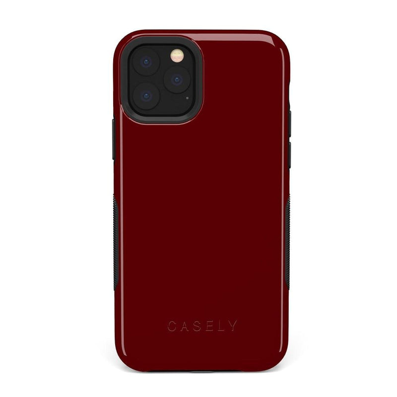 The Bold Collection - Burgundy Red on Black iPhone Case get.casely Bold iPhone 11 Pro Max