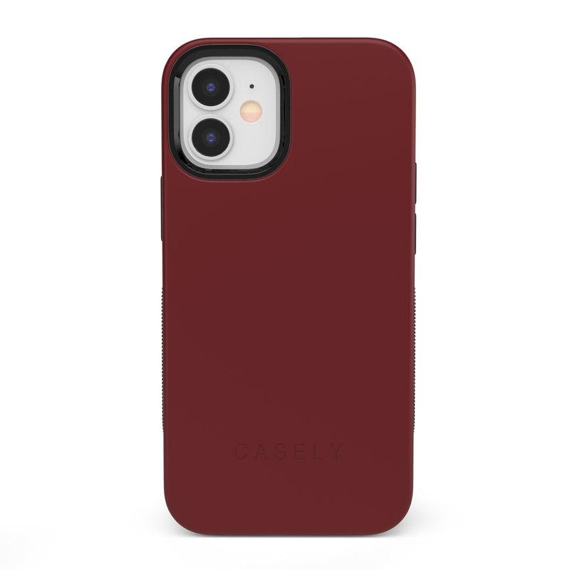 The Bold Collection - Burgundy Red on Black iPhone Case get.casely Bold iPhone 12 Mini
