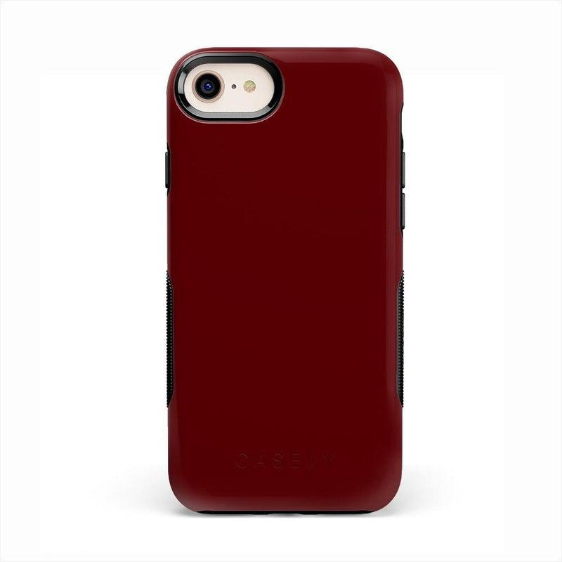 The Bold Collection - Burgundy Red on Black iPhone Case get.casely Bold iPhone 6/6s