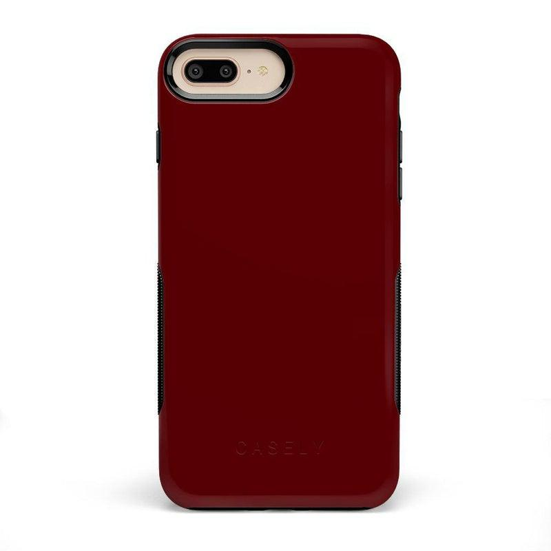 The Bold Collection - Burgundy Red on Black iPhone Case get.casely Bold iPhone 6/6s Plus