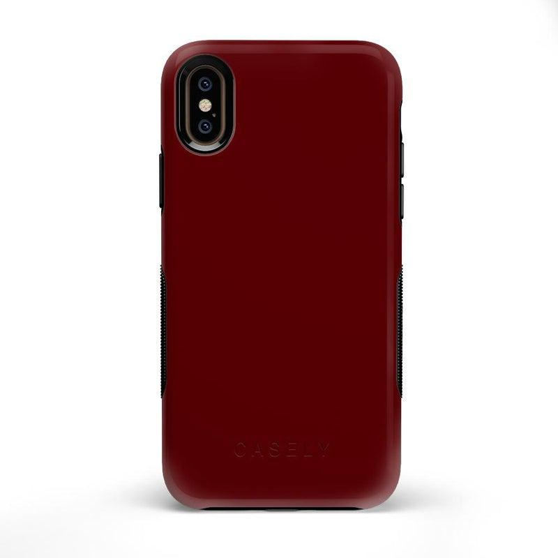 The Bold Collection - Burgundy Red on Black iPhone Case get.casely Bold iPhone X / XS