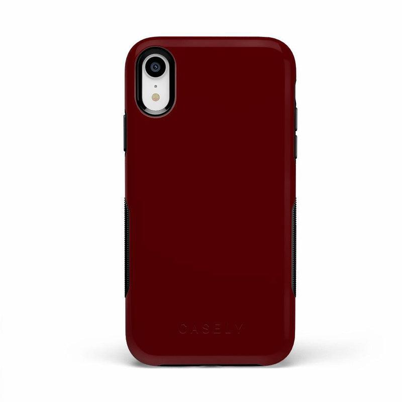 The Bold Collection - Burgundy Red on Black iPhone Case get.casely Bold iPhone XR