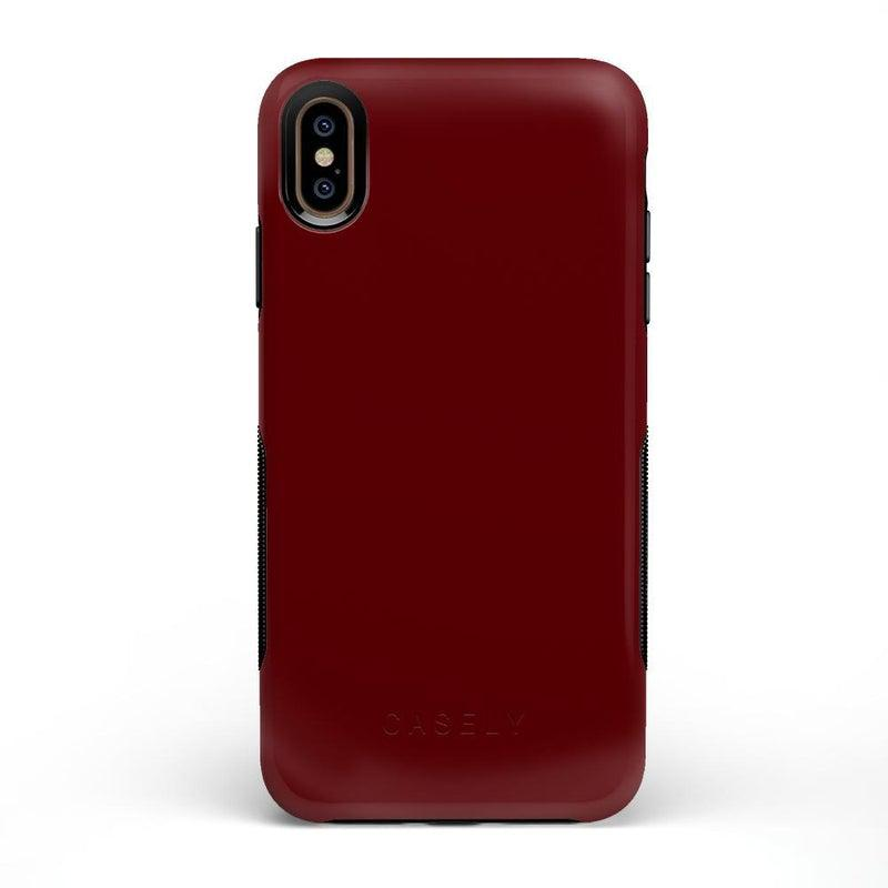 The Bold Collection - Burgundy Red on Black iPhone Case get.casely Bold iPhone XS Max