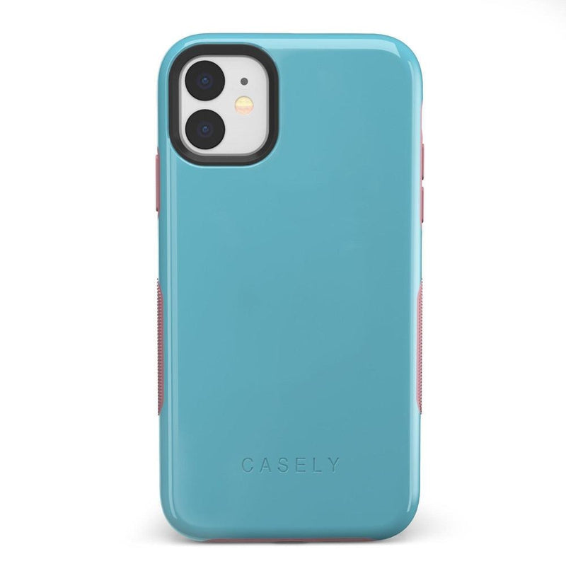 The Bold Collection - Cotton Candy Electric Blue on Pink iPhone Case get.casely Bold iPhone 11