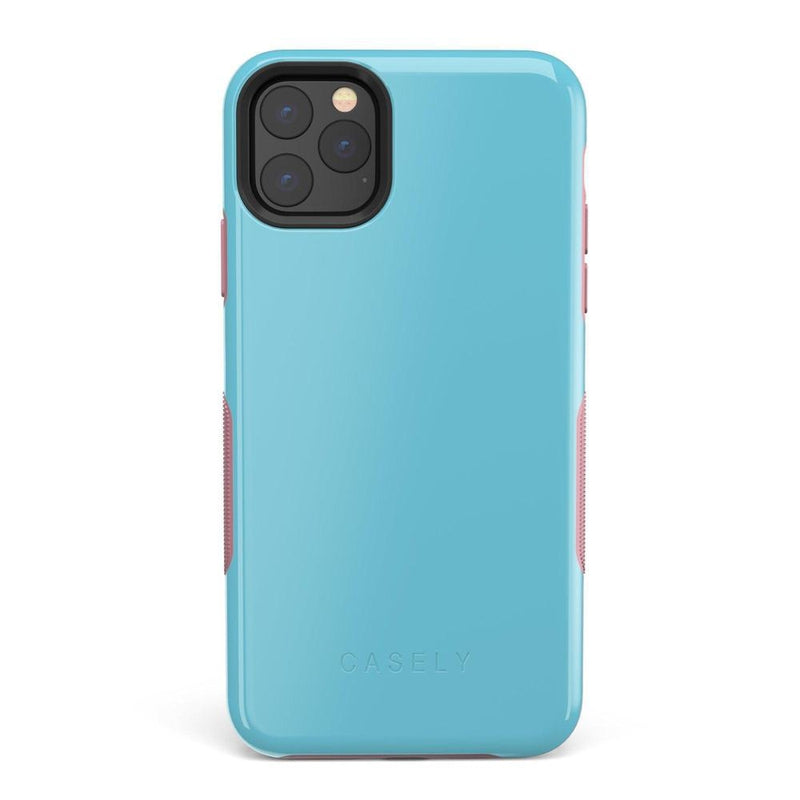 The Bold Collection - Cotton Candy Electric Blue on Pink iPhone Case get.casely Bold iPhone 11 Pro