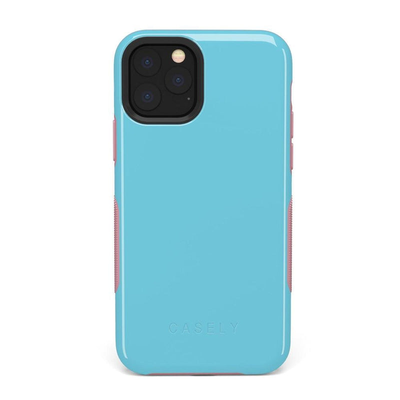The Bold Collection - Cotton Candy Electric Blue on Pink iPhone Case get.casely Bold iPhone 11 Pro Max
