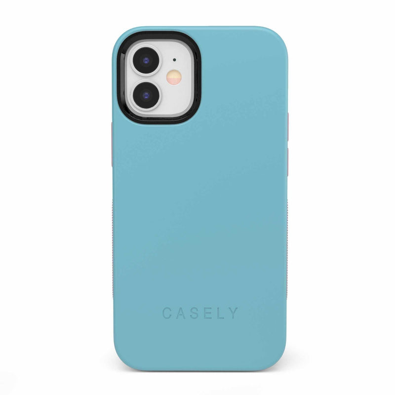 The Bold Collection - Cotton Candy Electric Blue on Pink iPhone Case get.casely Bold iPhone 12 Mini