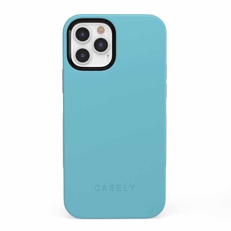 The Bold Collection - Cotton Candy Electric Blue on Pink iPhone Case get.casely Bold iPhone 12 Pro