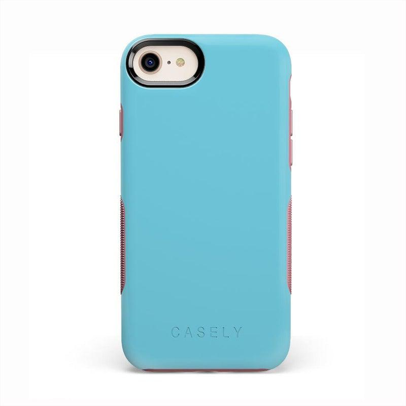 The Bold Collection - Cotton Candy Electric Blue on Pink iPhone Case get.casely Bold iPhone 6/6s