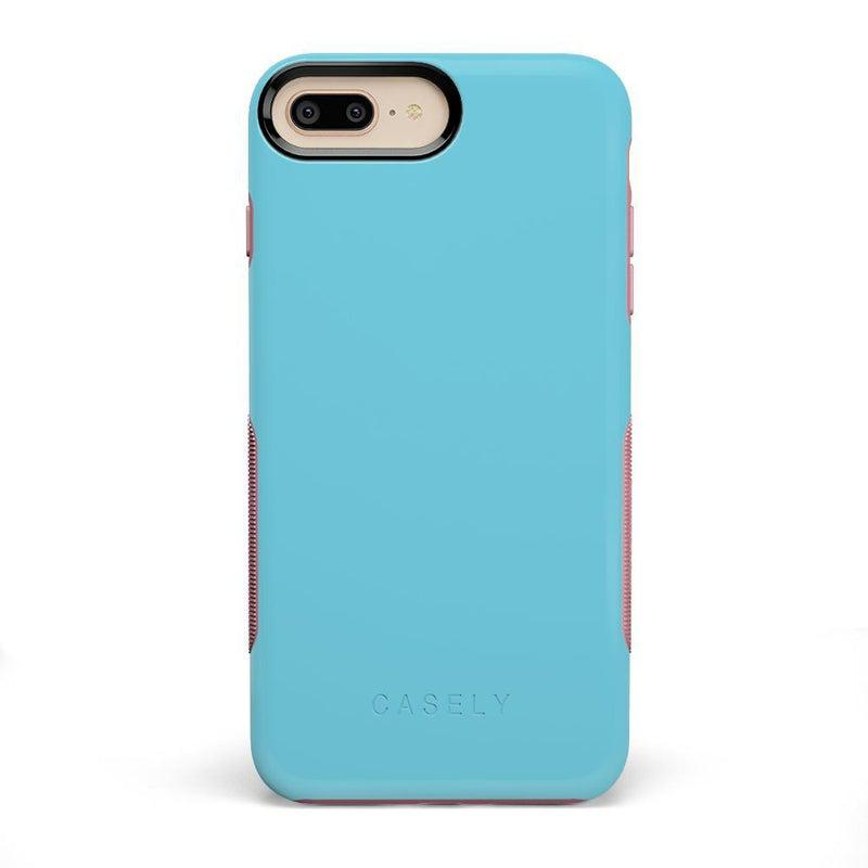 The Bold Collection - Cotton Candy Electric Blue on Pink iPhone Case get.casely Bold iPhone 6/6s Plus